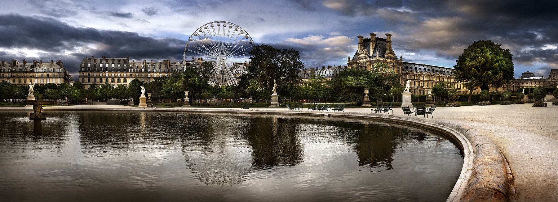 Le Jardin Des Tuileries Panoramic Art Photo Stephane Rey Gorrez