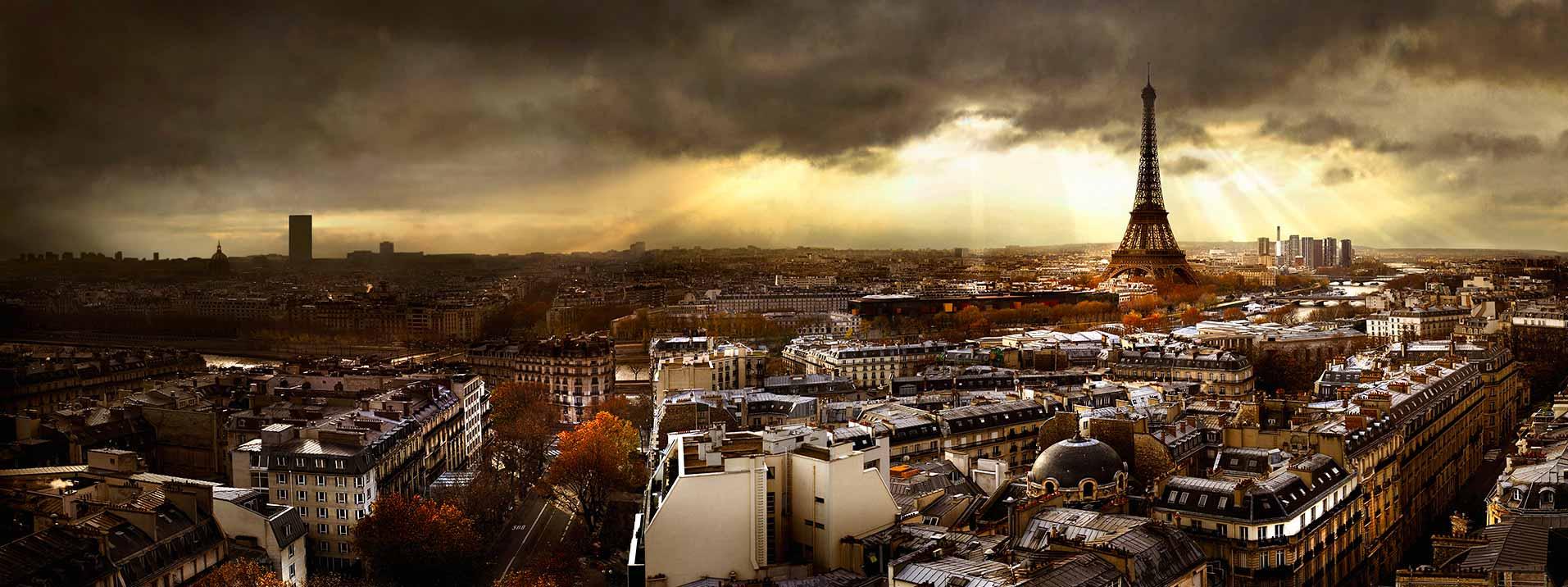 photo panoramique Paris tour Eiffel